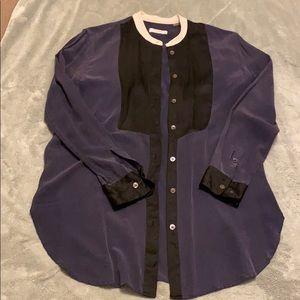 Equipment tuxedo silk shirt